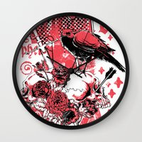 religious Wall Clocks featuring Religious war by Tshirt-Factory