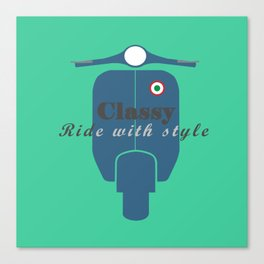 Classic Ride Scooter Canvas Print