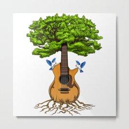 Acoustic Guitar Tree Of Life Metal Print