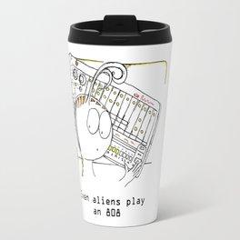 Alien and His Drum Machine Travel Mug