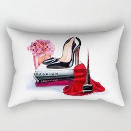 Black shoes Rectangular Pillow