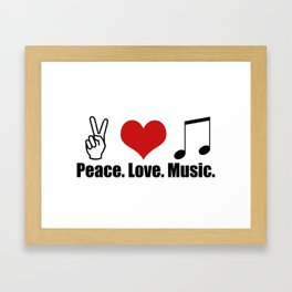 Love Music Framed Art Print