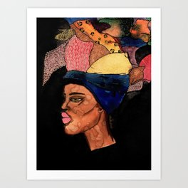 Headwrap Art Print