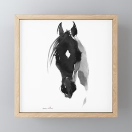 Horse (Star) Framed Mini Art Print