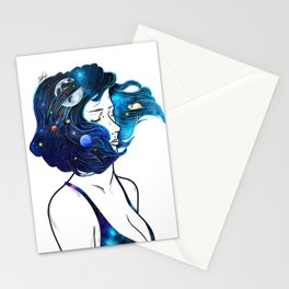 blowing  universe mind. Stationery Cards