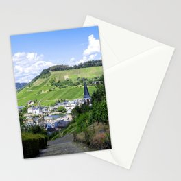 Traben-Trarbach as seen from above Stationery Cards