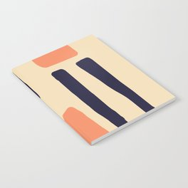 Coral and Blue Notebook