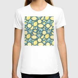 Lemon Pattern Green T-shirt