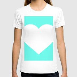 Heart (White & Turquoise) T-shirt