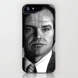Jack Nicholson Portrait iPhone Case