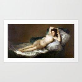 Maja Desnuda (The Nude Maja) by Francisco Goya Art Print