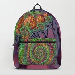 LSD - Psychedelic Trees - Nature - Fractal - Manafold Art Backpack