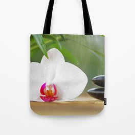 Relax with orchid flower and hot stones Tote Bag