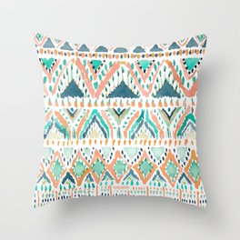 BALLIN' TRIBAL Boho Summer Geometric Throw Pillow