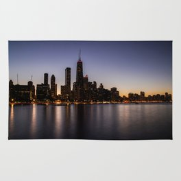 The Sunset in Chicago Rug
