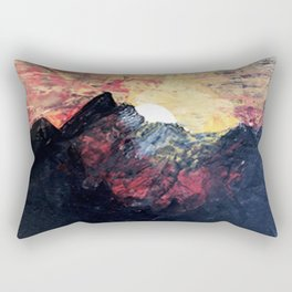 Arapahoe National Forest [2]: a colorful abstract mixed media mountain range Rectangular Pillow