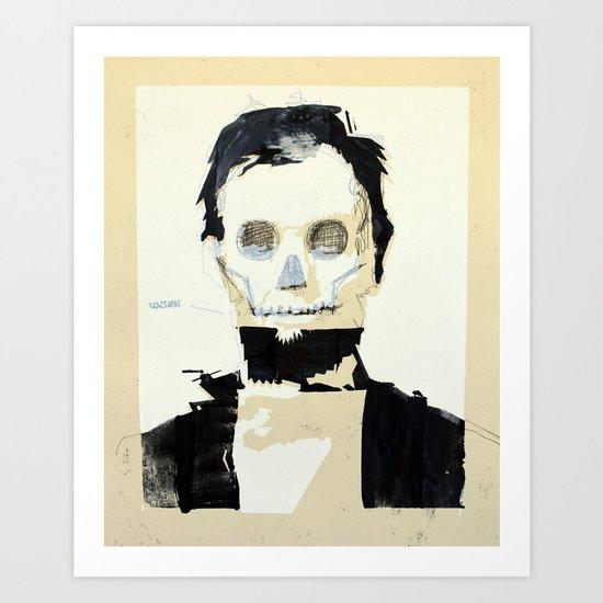 Abraham Lincoln (skull) Art Print