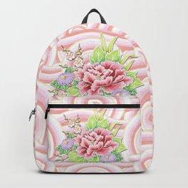 Pink Kimono Bouquet Backpack
