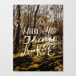 the wild things Canvas Print