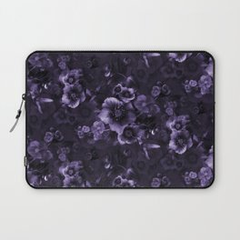 Moody florals purple by Odette Lager Laptop Sleeve