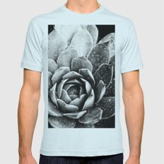 Rainsplashed Cactus Mens Fitted Tee Light Blue SMALL