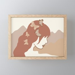 She Gives Me butterflies Framed Mini Art Print