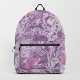 Purple Pink and Mint Marbling Backpack