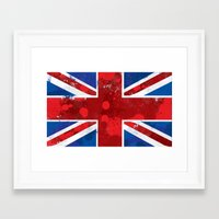 union jack Framed Art Prints featuring Union Jack by Riley