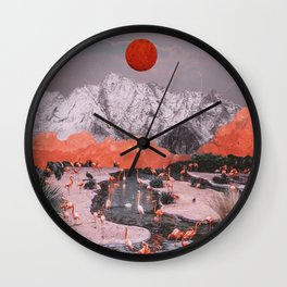 DASH OF PINK Wall Clock