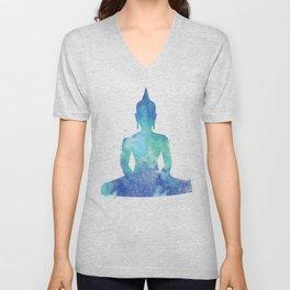 Seated Buddha Art Print Unisex V-Neck