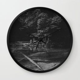 Cottage (Black and White) Wall Clock