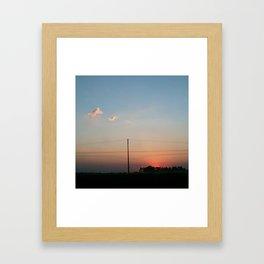 Spring sunset Brasil Framed Art Print