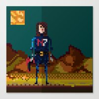 8bit Canvas Prints featuring 8bit sequal? by pixel.pwn | AK