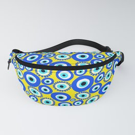 Mediterranean Eye Pattern Yellow and Blue Fanny Pack