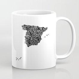 Typographic Spain map art print Coffee Mug