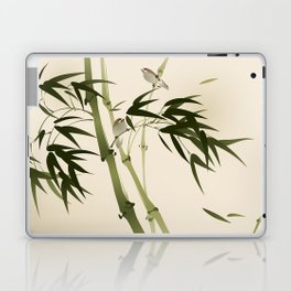 Oriental style painting, bamboo branches Laptop & iPad Skin