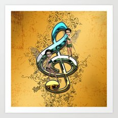 Decorative clef  Art Print