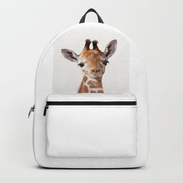 Baby Giraffe, Baby Animal Art Prints By Synplus Backpack