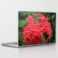 indonesia Laptop & iPad Skins featuring Flower (Bali, Indonesia) by Christian Haberäcker - acryl abstract