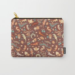 Autumn Geckos in light brown Carry-All Pouch