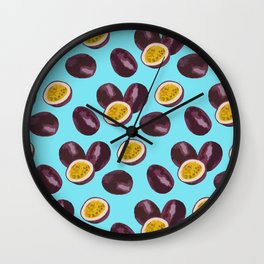 Live your passion on blue Wall Clock