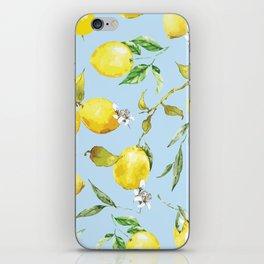 Watercolor lemons 10 iPhone Skin
