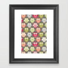 Forest Friends Owls Framed Art Print