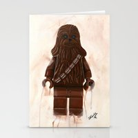 chewbacca Stationery Cards featuring Lego Chewbacca by Toys 'R' Art