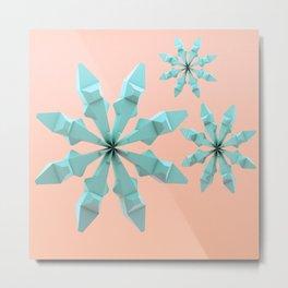 Snowflakes (creamy mint) Metal Print