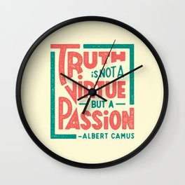 Happy 100th Birthday, Camus! Wall Clock