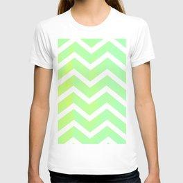 Patterned Chevron (Lime) T-shirt