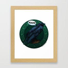 A British-sounding Poop! Framed Art Print