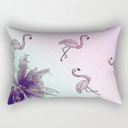 pink flamingo story Rectangular Pillow
