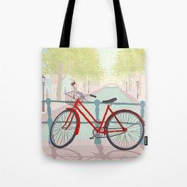 Amsterdam Canal Bike Tote Bag